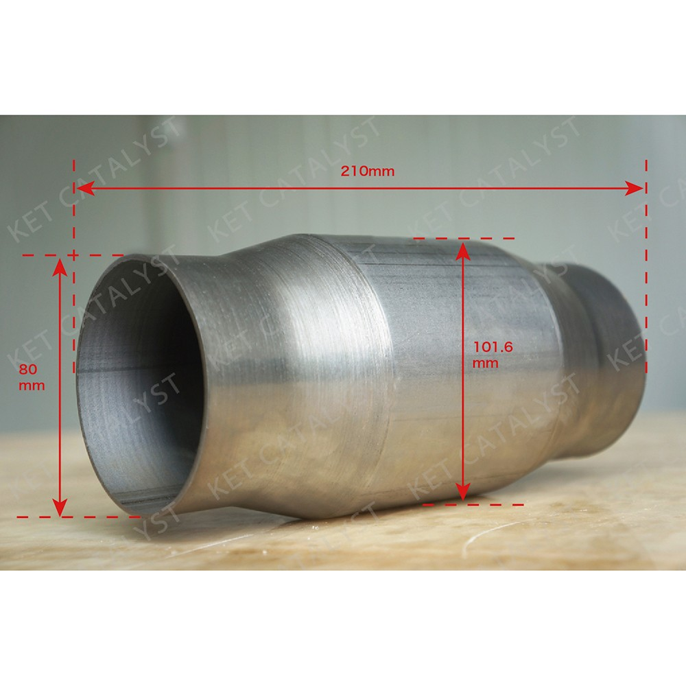 KET high performance catalytic converter with 300cell metallic substrate catalyst coating