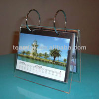 2014 Special Shape Acrylic Desktop Calendar Holder/Acrylic Table Calendar Stand