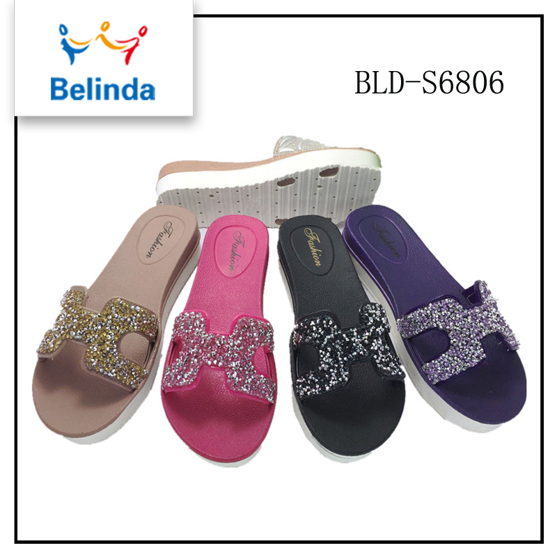 Hot sale womens slide platform slippers indian bridal sandals