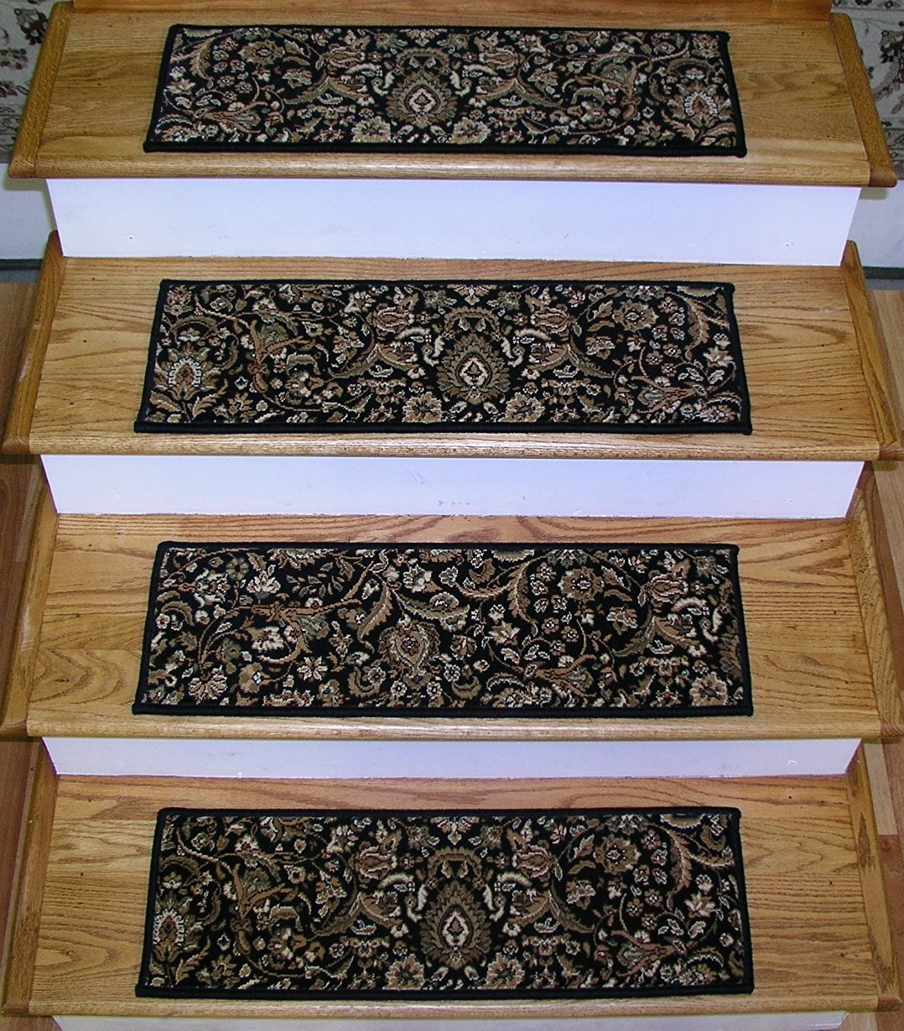 Get Quotations · 174377   Rug Depot Transitional Non Slip Carpet Stair  Treads   Set Of 13 Treads 26