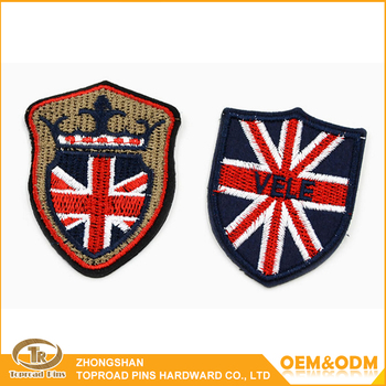 Custom India Embroidery Flag Patch College Embroidered Patches India
