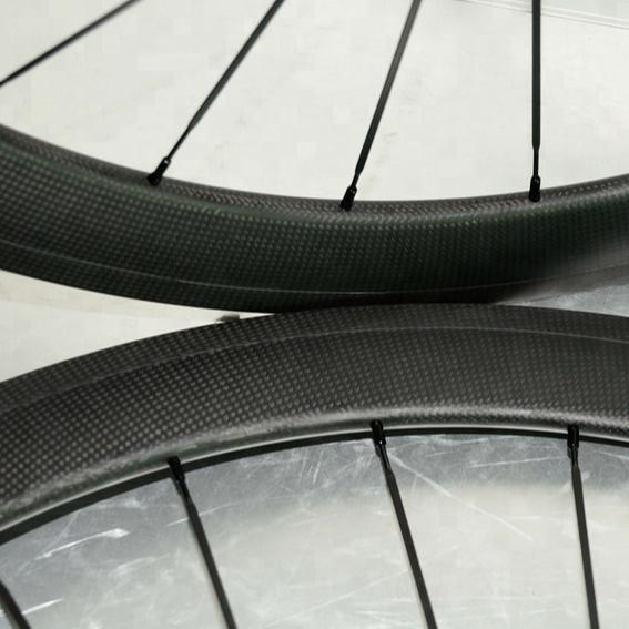 Road Bike Bicycling 3K Carbon Wheelset 24 38 50 60 88mm Depth Clincher Tubular