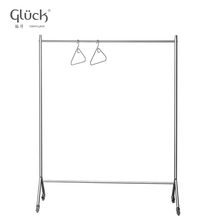 Simple tube movable steel hotel clothes rack MOD.1210