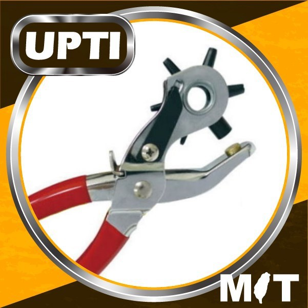 Taiwan Made High Quality DIY 2 In 1 Leather Hole Punch & Eyelet Pliers with 100 Eyelets Revolving Leather Punch