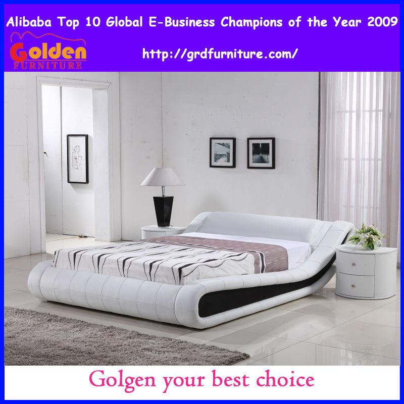 G997# cama de lujo tapizado cama moderna muebles-Camas ...