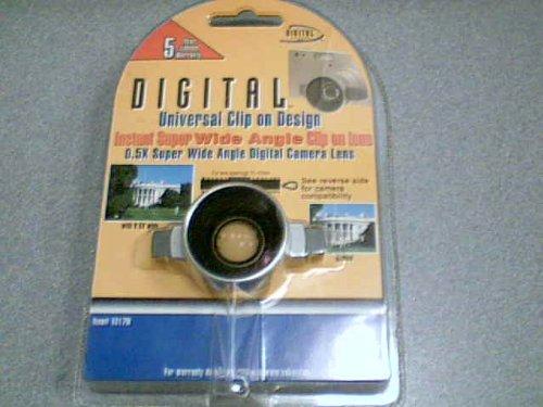 2003 Sakar International Digital Optics Japan Digital Concepts Digital Universal Clip On Design Instant Super Wide Angle Clip on Lens 0.5x Super Wide Angle Digital Camera Lens Item#1017W (For Lens Openings 10-17mm)