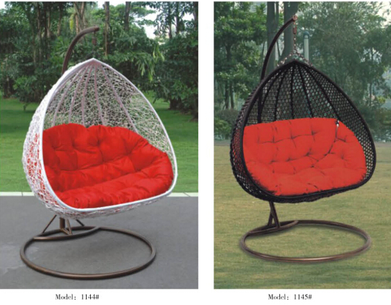 2 Persoons Hangstoel.2 Person Seater Egg Shape Wicker Rattan Swing Lounge Chair Hammock