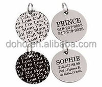 high quality Personalized Pet ID Name dog tag Custom Laser Engraving Stainless Steel Puppy dog tag cheap custom steel dog tag