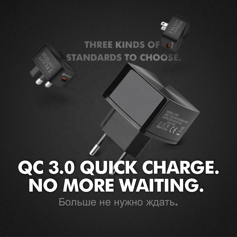 Eonline 18W Charger Quick Charge 3.0 Fast Mobile Phone Charging for Samsung for Xiaomi QC3.0 Desktop Charger