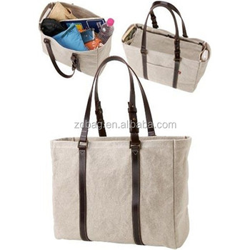 Cute Cotton Beach Bags,Canvas Tote Bag With Outside Pockets - Buy ...