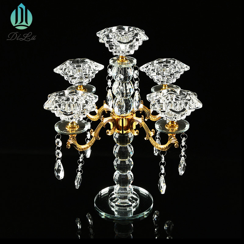 wedding crystal candle holder 10 arms decoration event party crystal candelabra 100 cm