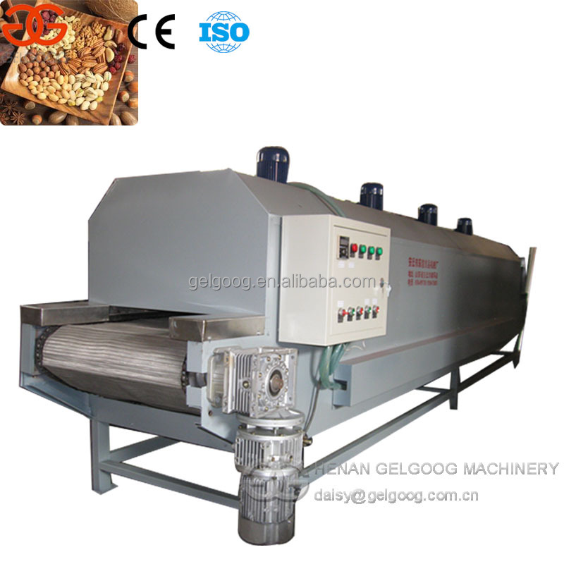 Continuous Belt type Peanut roaster/Almond roasting machine/Nuts dryer