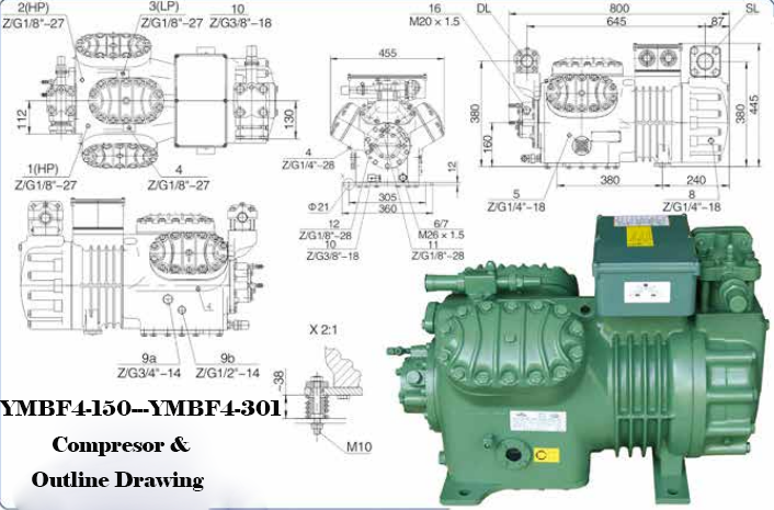 Bitzer Yemoo 15 Hp Semi Hermetic Low Temperature Cooling Cold