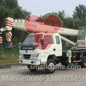 STSQ8B Pickup Lift Mini Used Construction Machines Crane Lifting On Truck