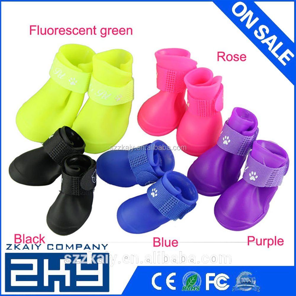 Waterproof Dog Boots Non Slip Booties Rain Socks Cachorro Paw Silicone Boot Puppy Outdoor Pets Dog Shoes Pet Product