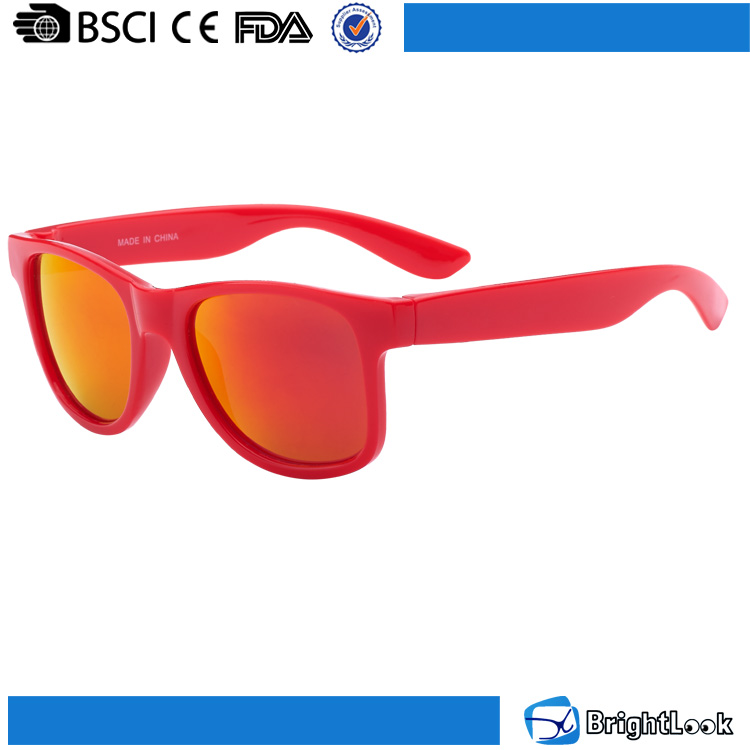 Promotion colored mirror lenses wholesale low price sunglasses for child