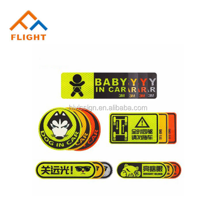 High Quality Reflective Sticker Customized Various Types Retro Reflective Sticker Paper