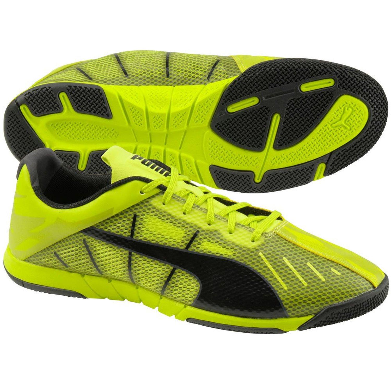 Puma Neon Lite 2.0 Indoor Soccer Shoe SULPHUR SPRING-BLACK-PERISCOPE (8.5)
