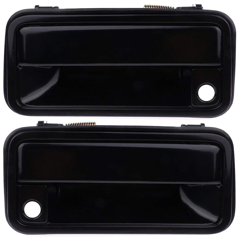 ECCPP Door Handles Exterior Outside Outer Front Driver Passenger Side for 1988-1994 Chevy GMC Black(Pack of 2)