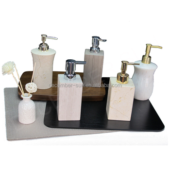 Elegant Marble Kitchen Foam Liquid Soap Dispenser With Pump