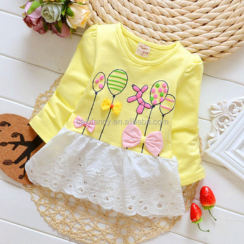 perfect elegant baby children girl flower dress for girls QGD-8055