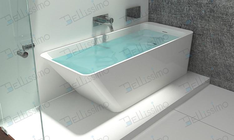 Solid Surface Baths Tube,Acrylic Resin Bath Tub Bs-8634 - Buy Bath ...