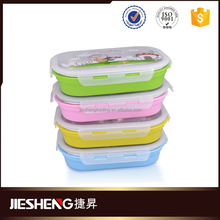 Colorful plastic lid stainless steel lunch box kids art storage boxes