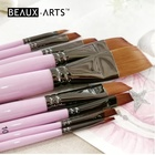 Angular Synthetic Sable Hair Watercolor Professional Artist Paint Brush Set