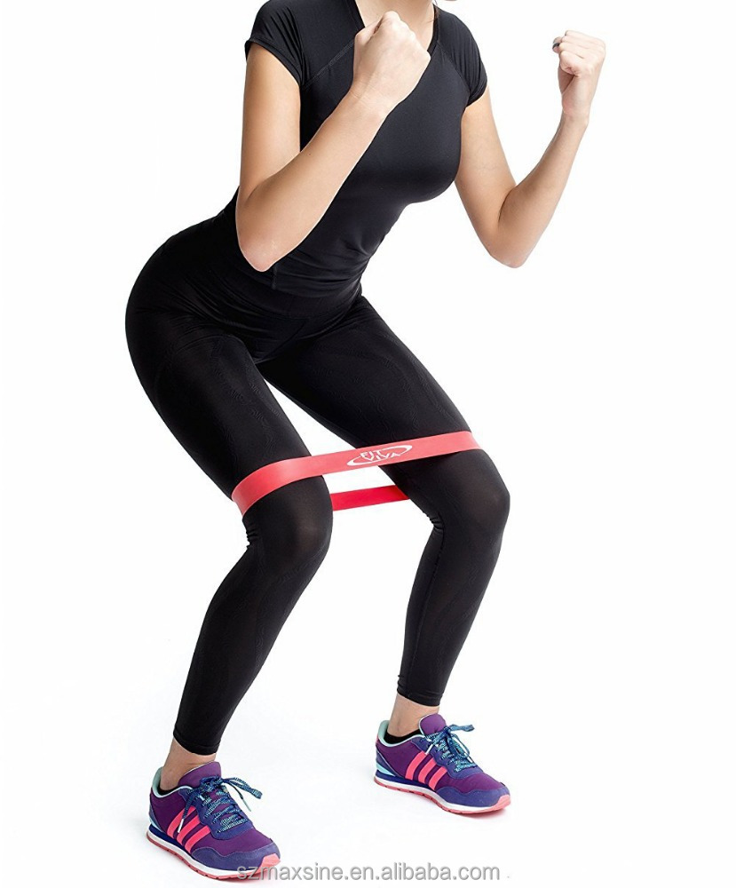 Latex Rubber Yoga Exercise Fitness Resistance Loop Band Set for Exercising