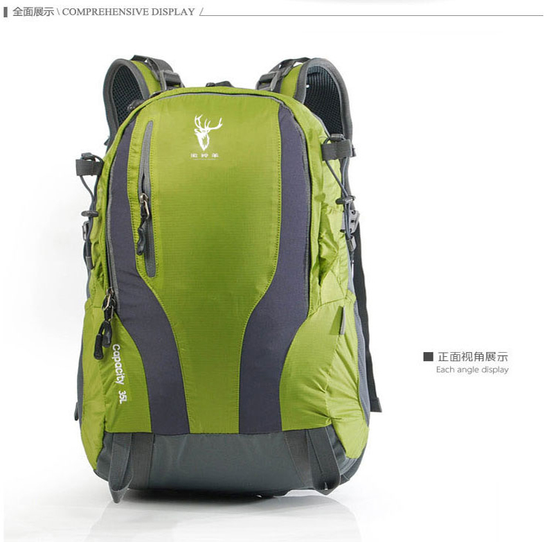 Color : Blue Green Orange Red) Large Capacity College Student Leisure Travel Bag(Blue 35LOutdoor Travel Backpack Pink