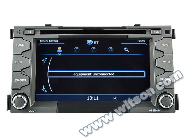 WITSON KIA SOUL DOUBLE DIN CAR DVD WITH 1.6GHZ FREQUENCY 1080P 1G DDR RAM 8GB FLASH CAPACTIVE SCREEN