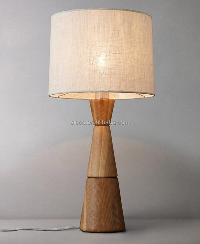Modern standing wood floor lamp for hotel buy natural for Cheap contemporary floor lamps