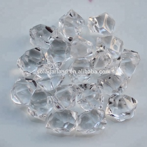 Hot sale color Acrylic Crystal Gem Stone vase acrylic fillers beads