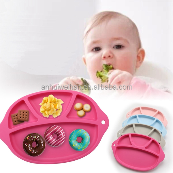 Popular portable silicone baby placemat, silicone baby dining table mat