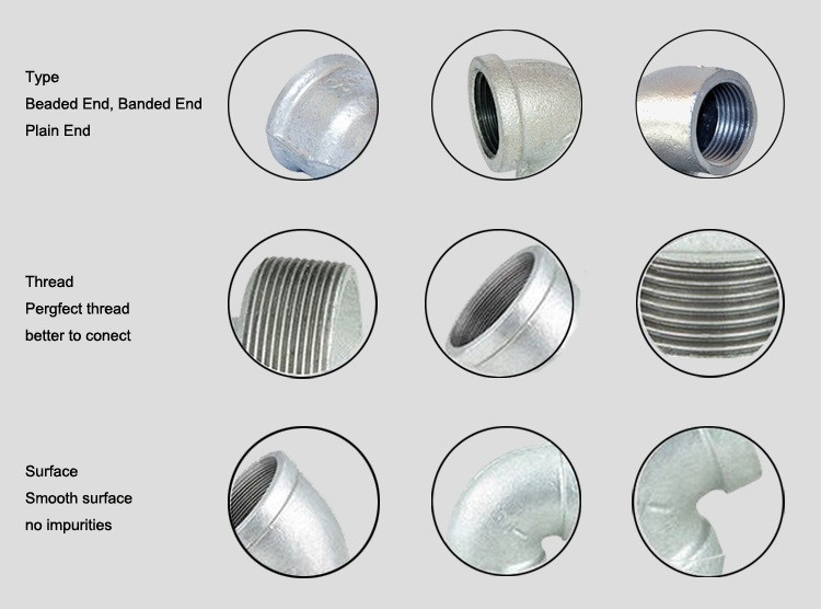 stainless steel 3 way elbow threaded pipe fittings