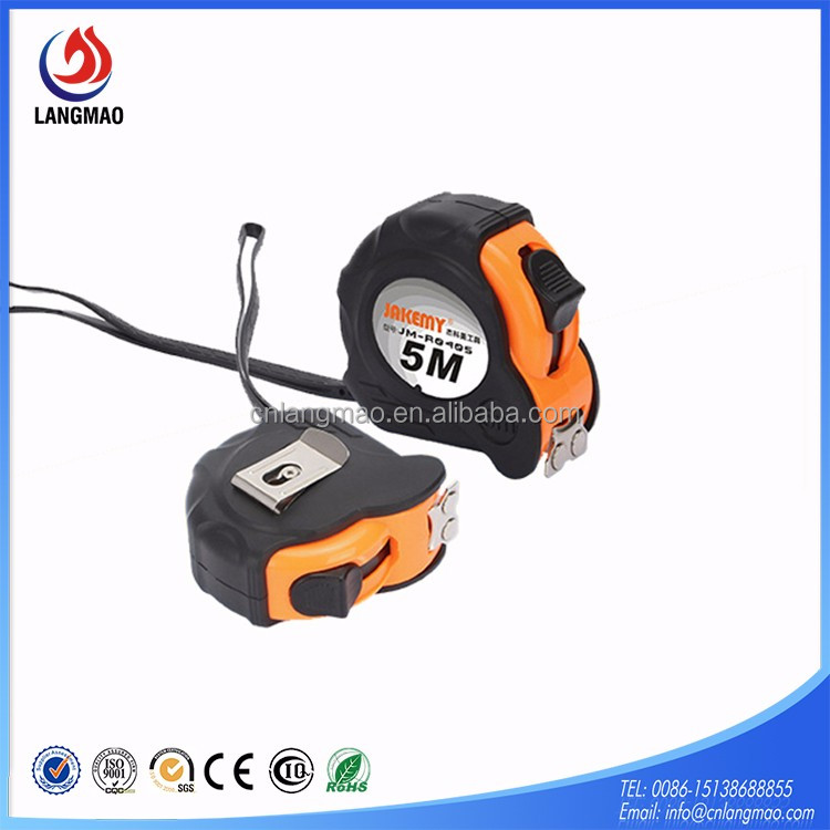 Factory Price OEM plastic/rubber coated 65# carbon steel blade magnetic floral tape measure industrial with your customized logo