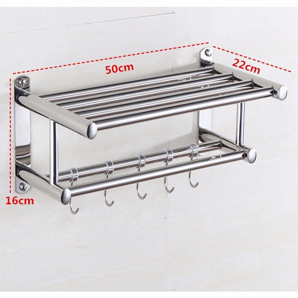 DACHUI Stainless steel towel rail sealed toilet Wall mounting 5016 22