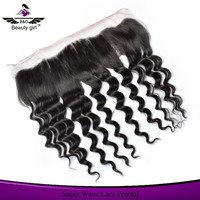 Cheap Lace Frontal Virgin Human Hair 13X4 Natural Part Lace Hair Closures With Baby Hair