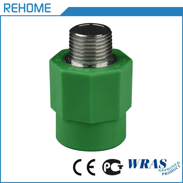 Water supply green ppr female and male threaded socket