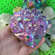 Wholesale natural Crystal Cluster Aura Quartz Cluster colorful Angel Aura Quartz hedgehog