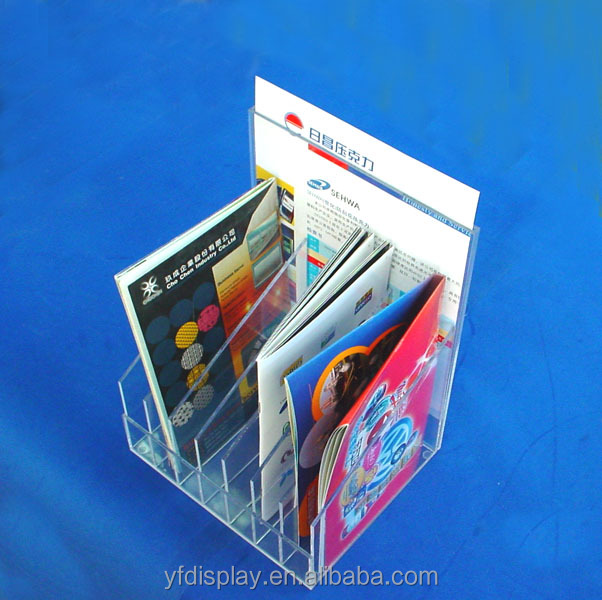 Supermarket art paper promotion magazine display racks