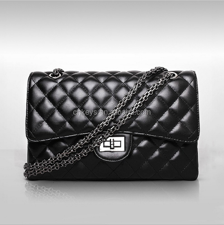 E0084A 2017 New European and American fashion Quilted chain bag Korean retro shoulder bag female bag diagonal mini tide