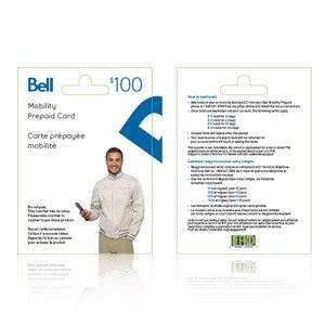 Bell Mobility Canada $100 Prepaid Topup Credit