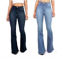 Top design flare boot cut denim ladies women high waist jeans