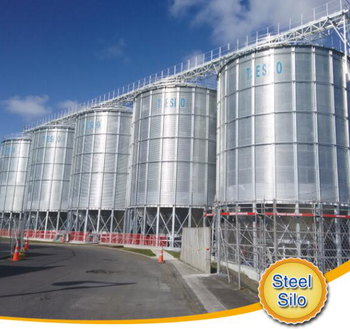 corrugated galvanized metal steel grain silo with factory price for storage