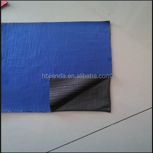 Blue surface self adhesive roofing underlay