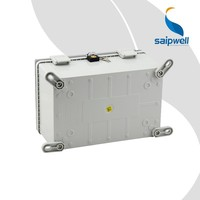 SAIPWELL 300*200*170mm High Quality IP66 Clear Cover Electric PC Waterproof Box Plastic Waterproof temperature control box