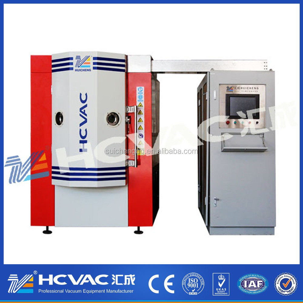 HCVAC stainless steel cookware spoon fork knife plate gold pvd plating machine/pvd coating equipment