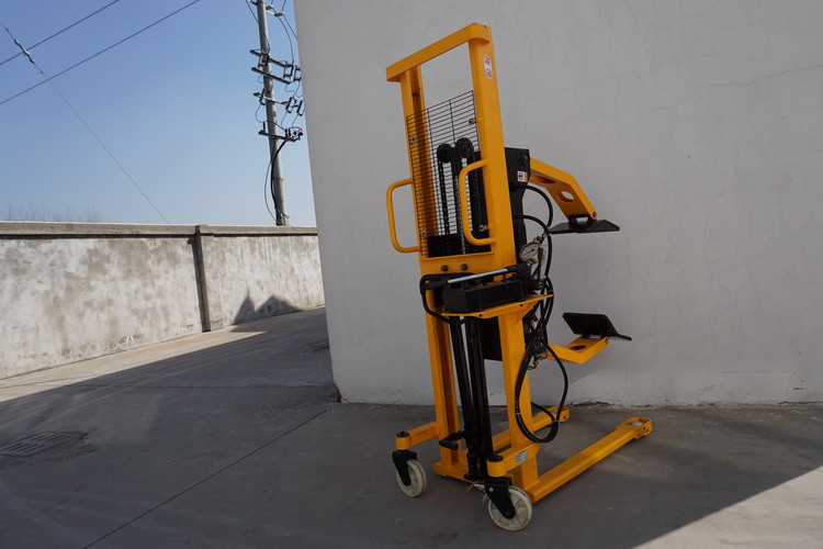 Manual Paper Reel Flip Truck Hand Hydraulic Forklift With