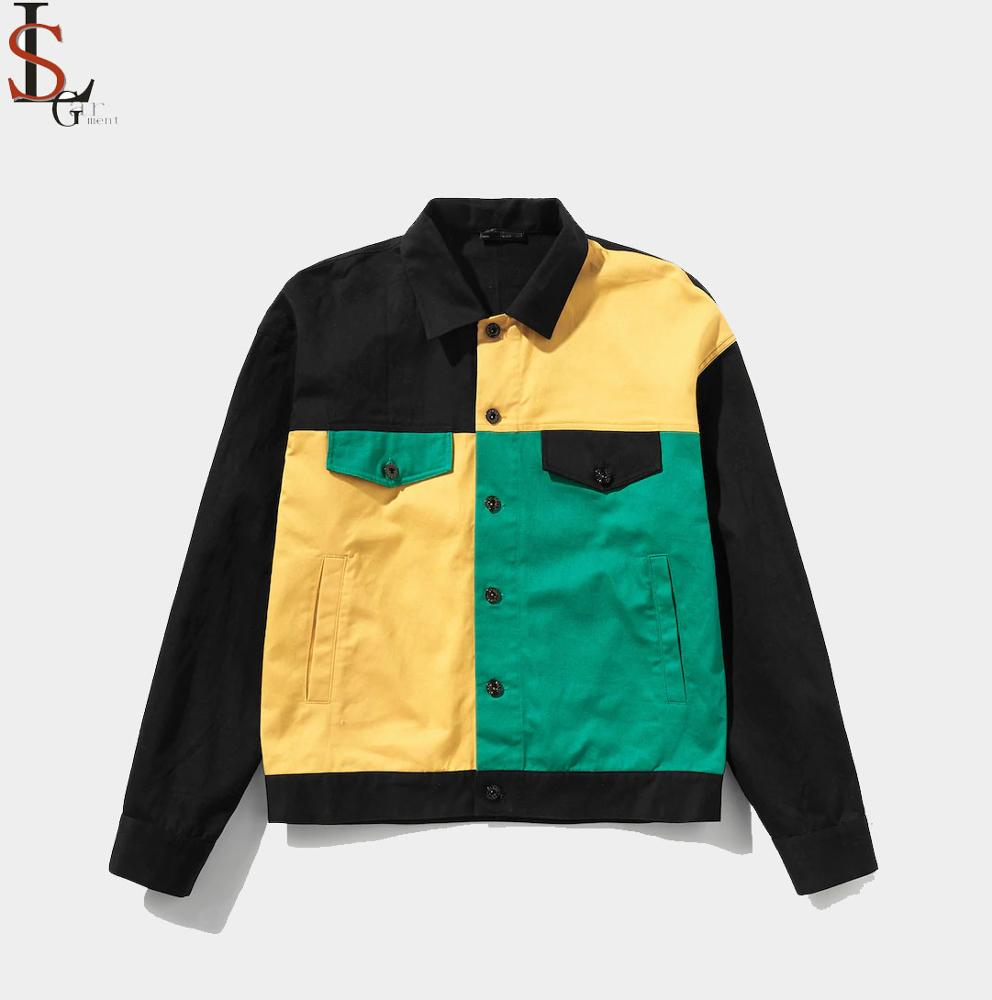 2019 de cool design multi-color twill jassen voor mannen met logo groothandel van factory direct